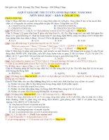 Giải chi tiết đề Hóa khối B 2010