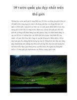 10 vườn quốc gia đẹp nhất trên thế giới potx