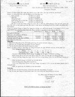 Đề thi Kế Toán quản trị số 2 docx