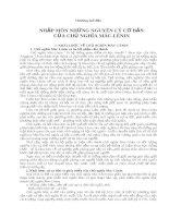 Triết Học -Nguyên Lý Cơ Bản Chủ Nghĩa Xã Hội Mác-Lênin phần 1 pot