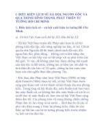 Điều kiện lịch sử - xã hội, nguồn gốc và quá trình hình thành, phát triển tư tưởng Hồ Chí Minh pptx