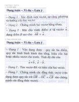 Cac dang toan Hinh Hoc lop 10