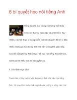 8 bí quyết học nói tiếng Anh Tiếng ppsx