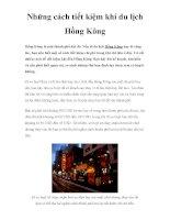 Những cách tiết kiệm khi du lịch Hồng Kông ppsx