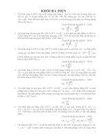 Bài tập hình học - Khối đa diện pptx
