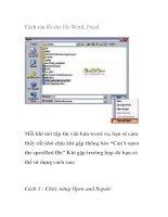 Cách sửa lỗi cho file Word, Excel pot