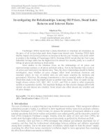 investigating the relationships among oil prices, bond index returns and interest rates