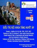 Bài giảng Điều trị nội khoa tăng huyết áp