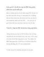 Giải quyết 2 vấn đề cho tập tin PDF bằng phần mềm bản quyền miễn phí ppt