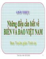 Những điều cần biết về biển và đảo Việt Nam