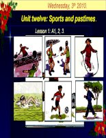 Sports and pastimes-lớp 6