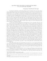 ĐẠO PHẬT MỘT CỘI NGUỒN VĂN HÓA PHƯƠNG ĐÔNG  CỦA TƯ TƯỞNG HỒ CHÍ MINH