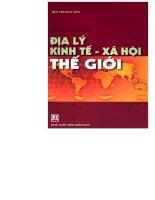 Giáo trình địa lý kinh tế - xã hội thế giới part 1 pot