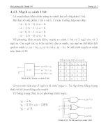 [Điện Tử] Hệ Thống Đếm Cơ Số, Đại Số Boole phần 8 pptx