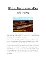 Bã thải Bauxit và tác động môi trường pdf