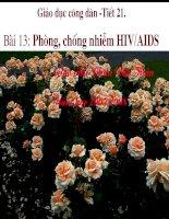 PHÒNG CHỐNG NHIỄM HIV/AIDS