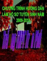 HƯỚNG DẪN LÀM HỒ SƠ TUYỂN SINH ĐH-CĐ 2010 (Tham khảo)