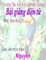 Quan tam, cham soc ong ba, cha me, anh chi em (Tiet 1)
