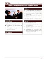 Bài 5: Giao tiếp trong Quản trị kinh doanhBÀI 5: GIAO TIẾP TRONG QUẢN TRỊ KINH pdf
