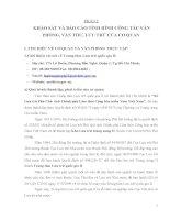 PH ẦN I : KHẢO SÁT VÀ BÁO CÁO TÌNH HÌNH CÔNG TÁC VĂN PHÒNG, VĂN THƯ, LƯU TRỮ CỦA CƠ QUAN pdf