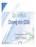 Bài giảng Lập kế hoạch chương trình Gíao dục sức khỏe dược sĩ Trương Trần Nguyên Thảo