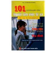 101 lời khuyên dành cho nhân viên làm việc từ xa part 1 ppsx