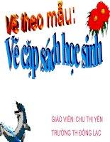 Lop 2 -Ve theo mau Cai cap sach hoc sinh