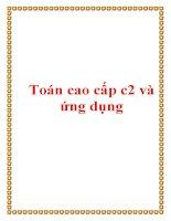 Toán cao cấp c2 và ứng dụng pdf