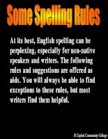 SOME SPELLING RULES