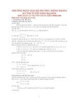 hệ phương trình có giải chi tiết