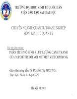 PHÂN TÍCH MÔ HÌNH 5 LỰC LƯỢNG CẠNH TRANH CỦA M.PORTER ĐỐI VỚI NHTMCP VIETCOMBANK