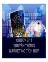 bài giảng chiến lược marketing - chương 11 truyền thông marketing tích hợp