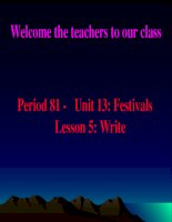 English 8 unit 13 - write