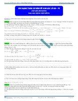 các dạng bài tập về con lắc lò xo phần 2