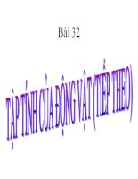BÀI 32 TẬP TÍNH CỦA ĐỘNG VẬT (TT)