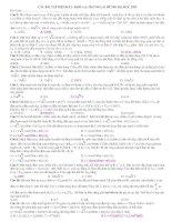 Tuyển tập các câu điện xoay chiều hay và khó