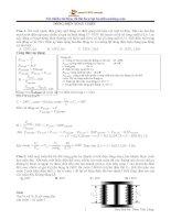70 bài tập dòng điện xoay chiều hay và khó