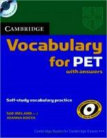Tiếng Anh B1 Khung Châu Âu của Cambridge (pet 1)
