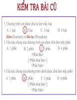 Bài 18: Ví dụ về cách viết và sử dụng Chương trình con (Tiết 1)