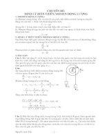 định lý biến thiên momen động lượng