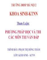 Tham Luan Hoc Tap Mon Thi Trac Ngiem
