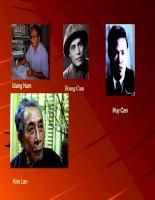 Chân dung các nhà văn ( thơ) Việt Nam