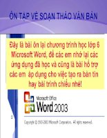 Ôn tập Word- lớp 6
