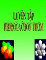 Bài 36. Luyện tập Hidrocacbon thơm