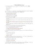 91 Bài tập trắc nghiệm điện tích điện trường