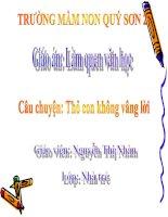 Truyen: Tho con khong vang loi