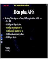 Bài giảng hệ thống điện thân xe camry 2007 đèn pha AFS