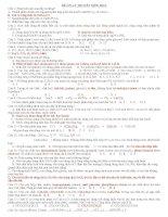ôn tập lý thuyết ôn thi đại học hóa học