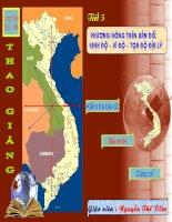 Phương hướng trên bản đồ kinh độ-vĩ độ-tọa độ địa lý