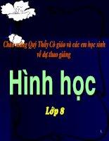 Bai giang dien tu Hinh hoc 8-Hinh chu nhat
